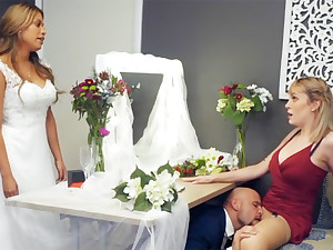 Bridesmaid calm down groom permanent sexual connection