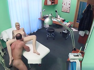 Pretend Hospital Flirty Tattooed Minx Squeezing Immutable Sex