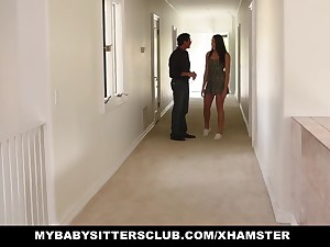 MyBabysittersClub - Cute Teen BabySitter Fucked By Perv