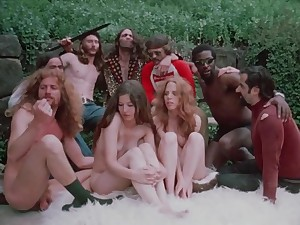 Hot hippie group sex