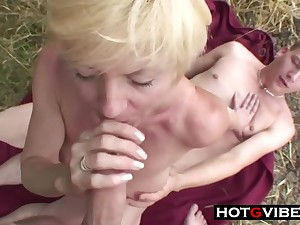 Nephews Sneak Grandma Widely For A 3Some Sex - ANALDIN