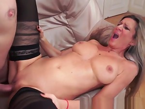 Busty Cougar Pussyfucked Passionately