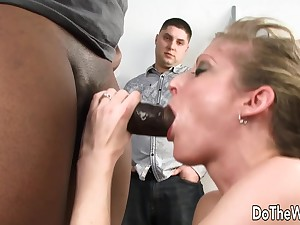 Cock Hungry Become man Lya Pink Facialized by BBC roughly Shtick of Cuckold Husband