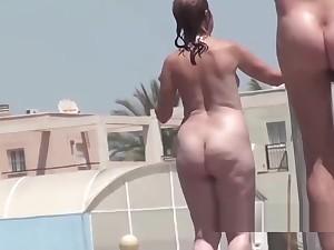 Amateur Nudist Milfs Shower Jackass Margin Spy Episode 2