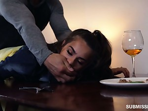 Rude boyfriend fucks hard lovely babe Sofie Reyez on the table with the addition of in the bedroom