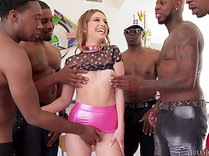 Kristen Scott Interracial Gangbang