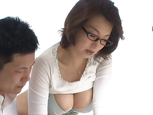 Mio Takahashi horny Asian teacher gives after school preparation
