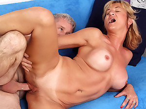 Mature Tart Sky Haven Has The brush Pussy Hard to believe hard by a Horny Grandpa