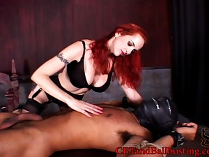 Curvy unfocused enormous her guy handjob before busting his balls in femdom sexual congress