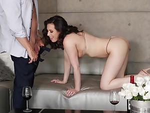 Morning fucking rubble with a cumshot on Casey Calvert's breasts