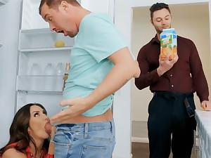 Wife's big special seduced nanny to fuck hardcore