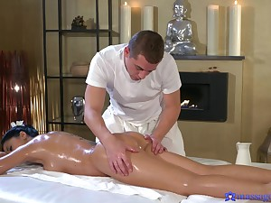 Erotic massage and pure nudity leads to crazy fucking moments