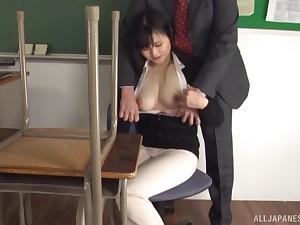 Closeup membrane of an amateur dude fucking sexy babe Hirose Yoko