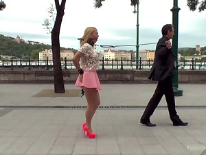 Hardcore double penetration in public with trull Isabella Clark