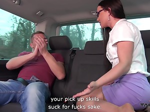Quickie fucking in transmitted to back of transmitted to taxi with anal loving Wendy