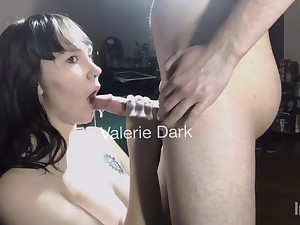 Valerie Dark: Step Sister Catches Too Much Cum In Her Mouth To Swallow