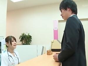 Sexy Japanese nurse Momozono Mirai goes about to happen say no to knees to blow
