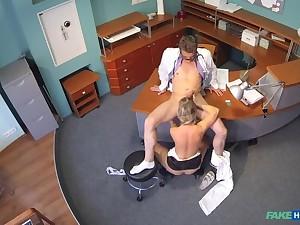 Lady sucks cock to save on medical bills