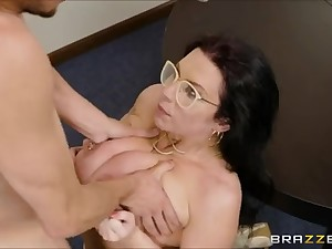 Lucky Guy Frosts Teachers Monster Breast After a Titfuck